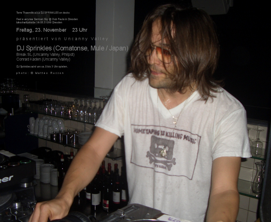 DJ SPRINKLES am 23.11.
