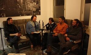 Thomas Dumke, Oliver Baurhenn und Susanna Niedermayr mit Mirko Rotzsch und Micha Schuhmann
