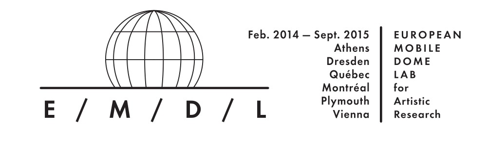 LOGO EMDL European Mobile Dome Lab for Artistic Research