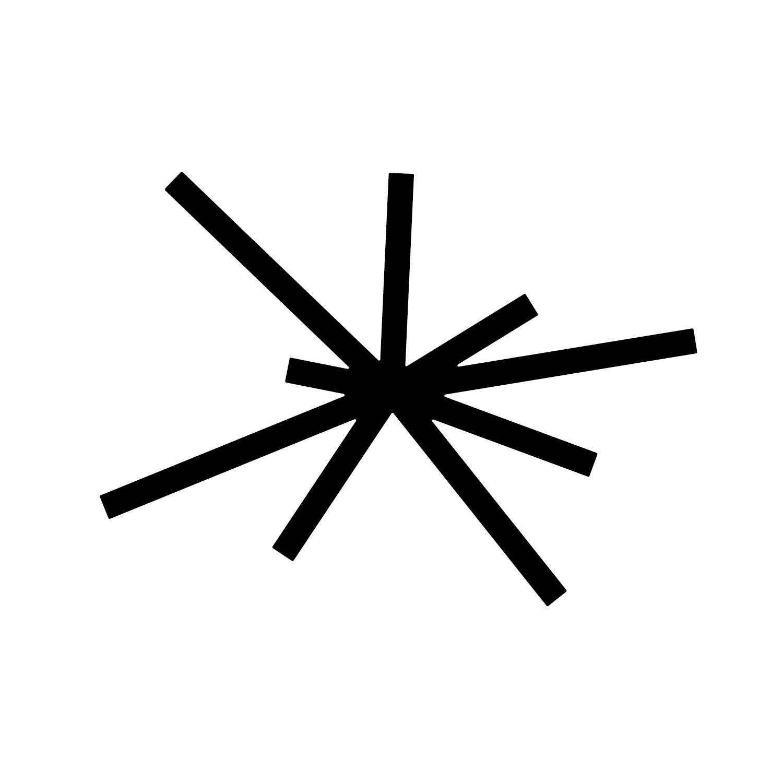 c h o r o s Logo weiß - von einem MIttelpunkt wegführende Striche